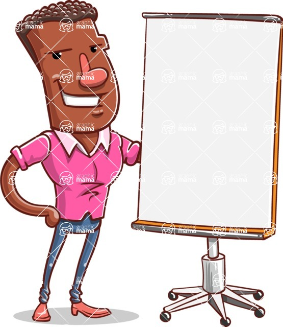 Vector African American Man Cartoon Character Design AKA Bud - Presentation 1