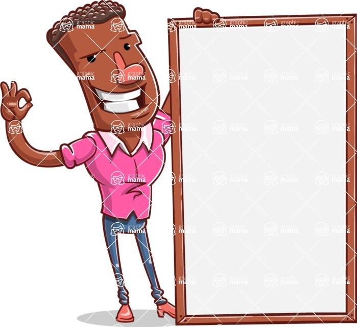 Vector African American Man Cartoon Character Design AKA Bud - Presentation 4