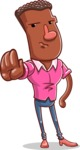 Vector African American Man Cartoon Character Design AKA Bud - Stop