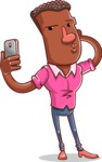 Vector African American Man Cartoon Character Design AKA Bud - Duckface