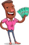 Vector African American Man Cartoon Character Design AKA Bud - Show me the Money