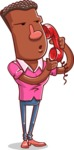 Vector African American Man Cartoon Character Design AKA Bud - Support