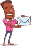 Vector African American Man Cartoon Character Design AKA Bud - Letter