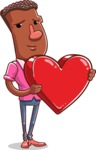 Vector African American Man Cartoon Character Design AKA Bud - Love