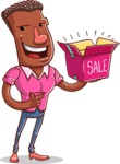Vector African American Man Cartoon Character Design AKA Bud - Sale