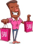 Vector African American Man Cartoon Character Design AKA Bud - Sale2