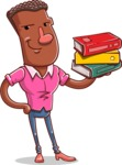 Vector African American Man Cartoon Character Design AKA Bud - Book 2