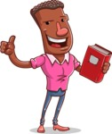 Vector African American Man Cartoon Character Design AKA Bud - Book 3