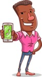 Vector African American Man Cartoon Character Design AKA Bud - iPhone