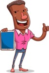 Vector African American Man Cartoon Character Design AKA Bud - iPad 1