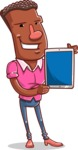 Vector African American Man Cartoon Character Design AKA Bud - iPad 2