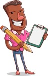Vector African American Man Cartoon Character Design AKA Bud - Notepad 1