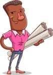 Vector African American Man Cartoon Character Design AKA Bud - Plans