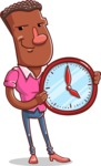 Vector African American Man Cartoon Character Design AKA Bud - Time is Yours