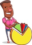 Vector African American Man Cartoon Character Design AKA Bud - Chart