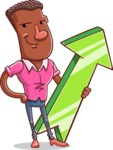 Vector African American Man Cartoon Character Design AKA Bud - Pointer 1