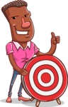 Vector African American Man Cartoon Character Design AKA Bud - Target