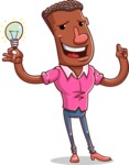 Vector African American Man Cartoon Character Design AKA Bud - Idea 1