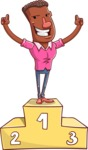 Vector African American Man Cartoon Character Design AKA Bud - On Top