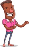 Vector African American Man Cartoon Character Design AKA Bud - Show2