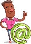 Vector African American Man Cartoon Character Design AKA Bud - Email
