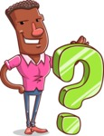 Vector African American Man Cartoon Character Design AKA Bud - Question
