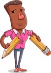 Vector African American Man Cartoon Character Design AKA Bud - Under Construction 2
