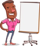 Vector African American Man Cartoon Character Design AKA Bud - Presentation 1