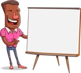 Vector African American Man Cartoon Character Design AKA Bud - Presentation 2