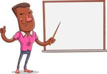 Vector African American Man Cartoon Character Design AKA Bud - Presentation 3