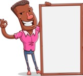 Vector African American Man Cartoon Character Design AKA Bud - Presentation 4