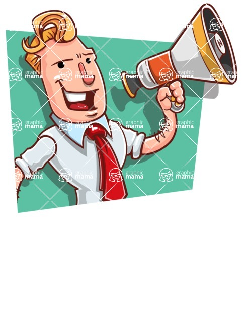 Vector Businessman Cartoon Character Design - Shape 3