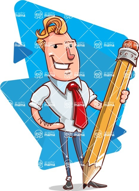 Vector Businessman Cartoon Character Design - Shape 6