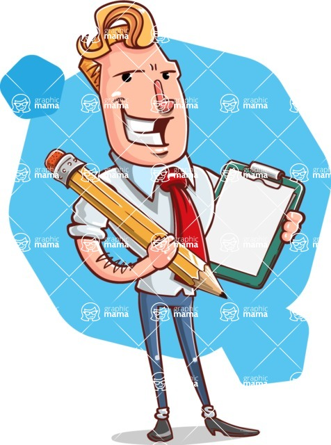 Vector Businessman Cartoon Character Design - Shape 9