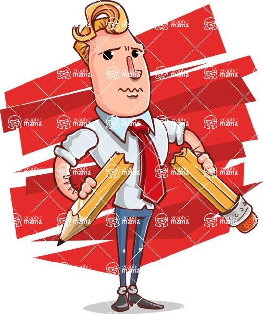 Vector Businessman Cartoon Character Design - Shape 12