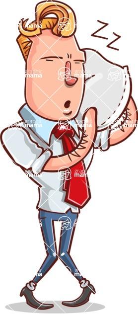 Vector Businessman Cartoon Character Design - Bored 2