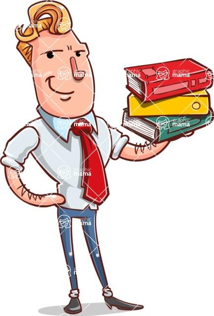 Vector Businessman Cartoon Character Design - Book 2
