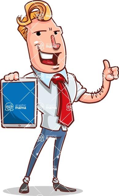 Vector Businessman Cartoon Character Design - iPad 1