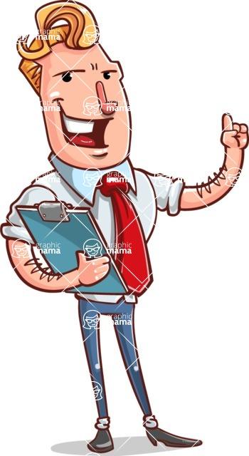 Vector Businessman Cartoon Character Design - Notepad 2