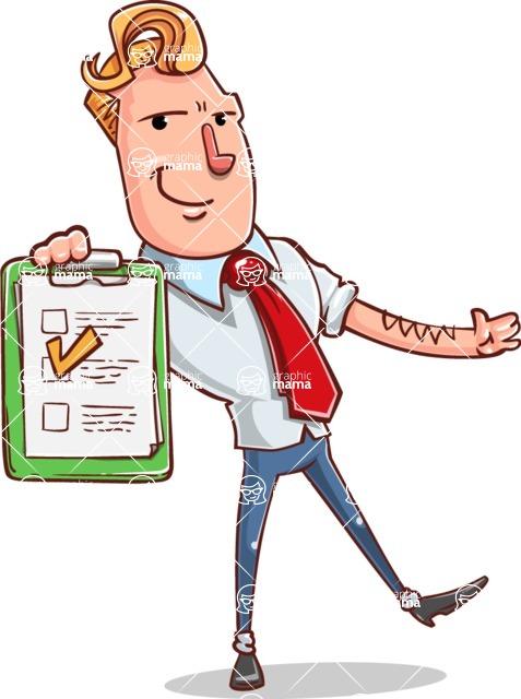 Vector Businessman Cartoon Character Design - Notepad 3