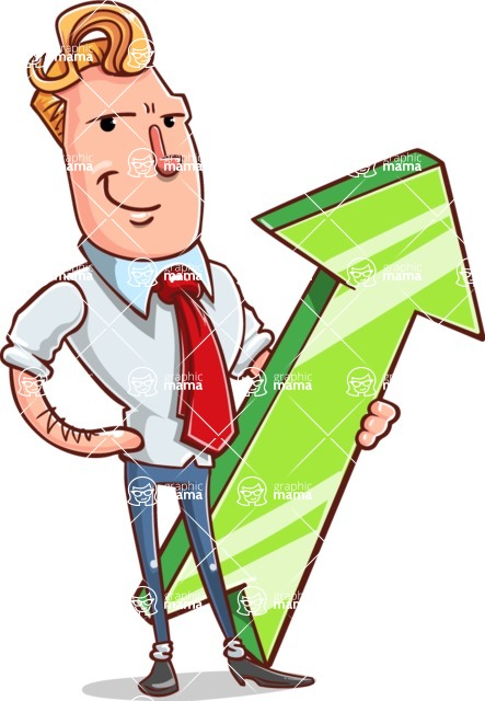 Vector Businessman Cartoon Character Design - Pointer 1