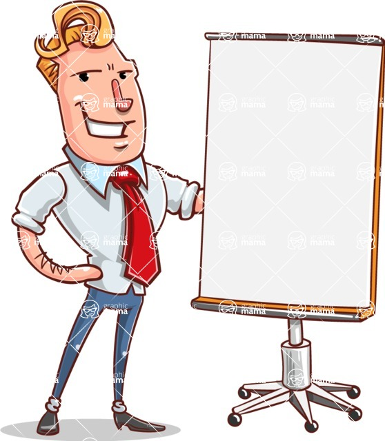Vector Businessman Cartoon Character Design - Presentation 1