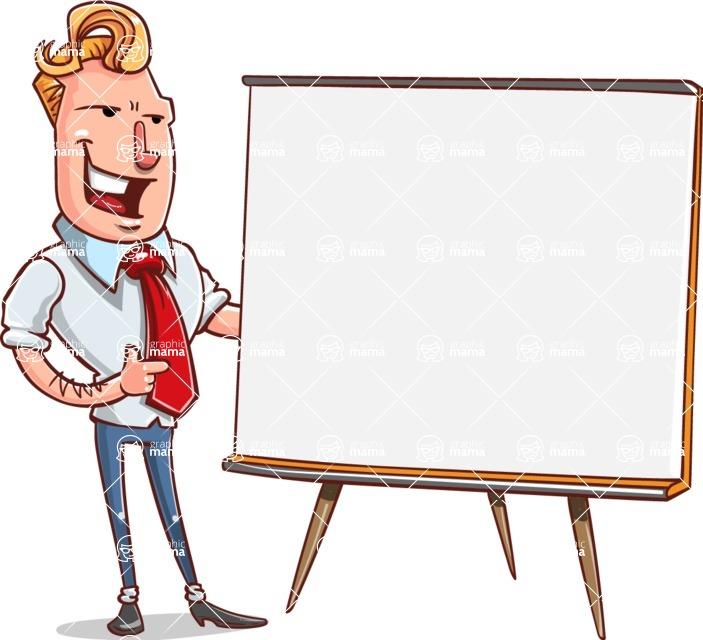 Vector Businessman Cartoon Character Design - Presentation 2