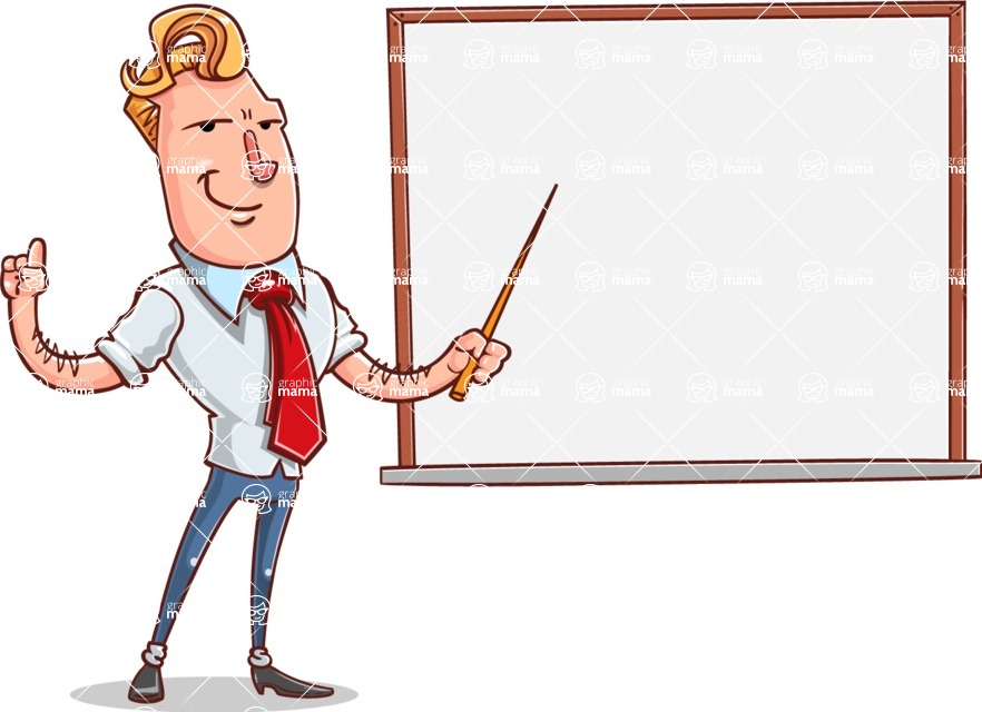 Vector Businessman Cartoon Character Design - Presentation 3