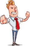 Vector Businessman Cartoon Character Design - Stop 2