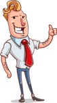 Vector Businessman Cartoon Character Design - Thumbs Up