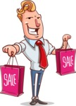 Vector Businessman Cartoon Character Design - Sale2