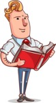 Vector Businessman Cartoon Character Design - Book 1