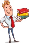 Vector Businessman Cartoon Character Design - Book 2