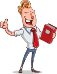 Vector Businessman Cartoon Character Design - Book 3